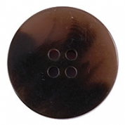 Polyester Jacket Button - Brown/Natural - 30mm